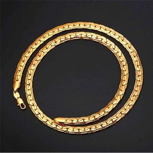 """Mens """"Axel"""" 18K Gold Plated 6mm Snake Chain"""
